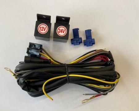 Kabelsett med 12 og 24V releer